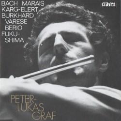 Werke für Flöte Solo by Bach ,   Marais ,   Karg-Elert ,   Varèse ,   Berio ,   Fukushima ;   Peter-Lukas Graf