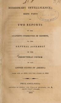 Missionary Intelligence by Presbyterian Church in the U.S.A.