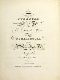 Overture to the favourite opera of Cenerentola by Gioacchino Rossini